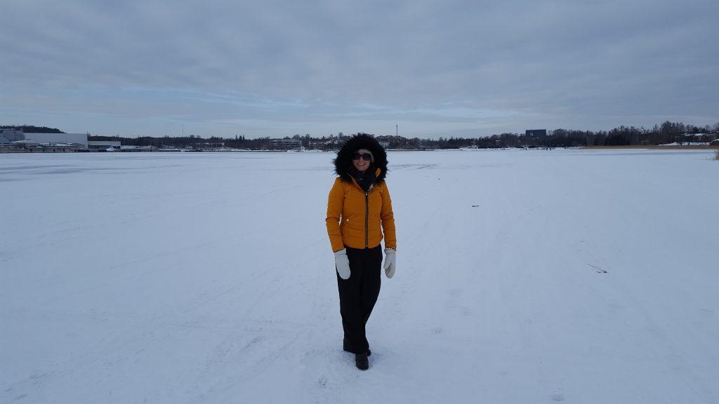 en promenad på isen