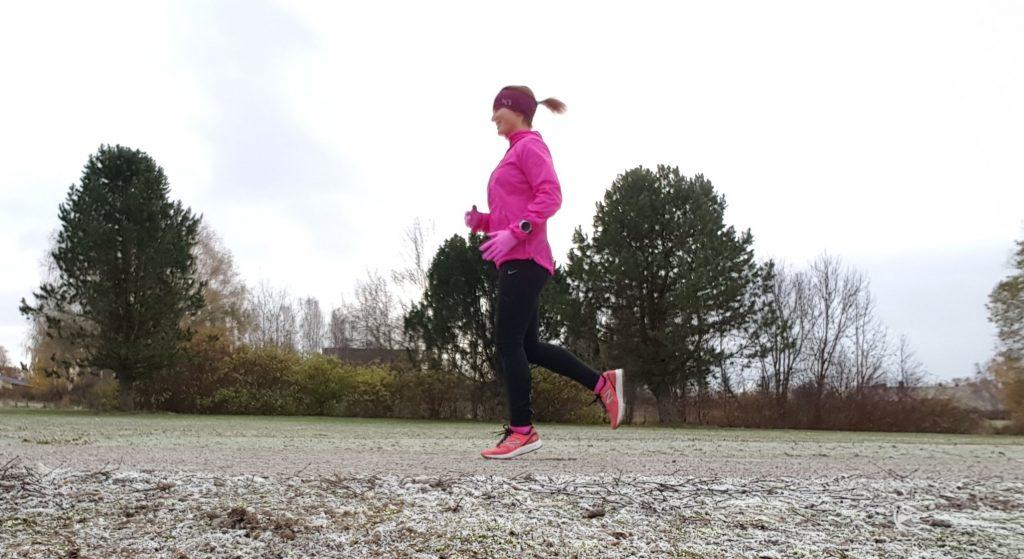 springa i kallt väder