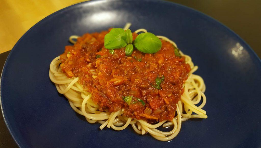 spagetti bolognese med sojakross