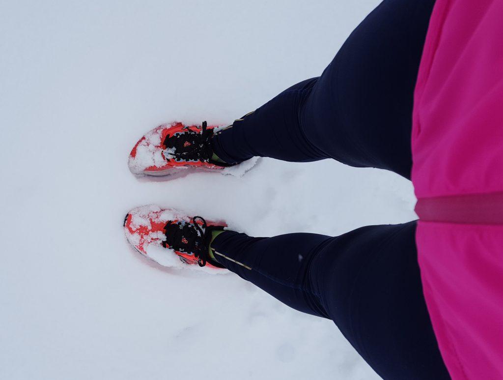 springa i snö