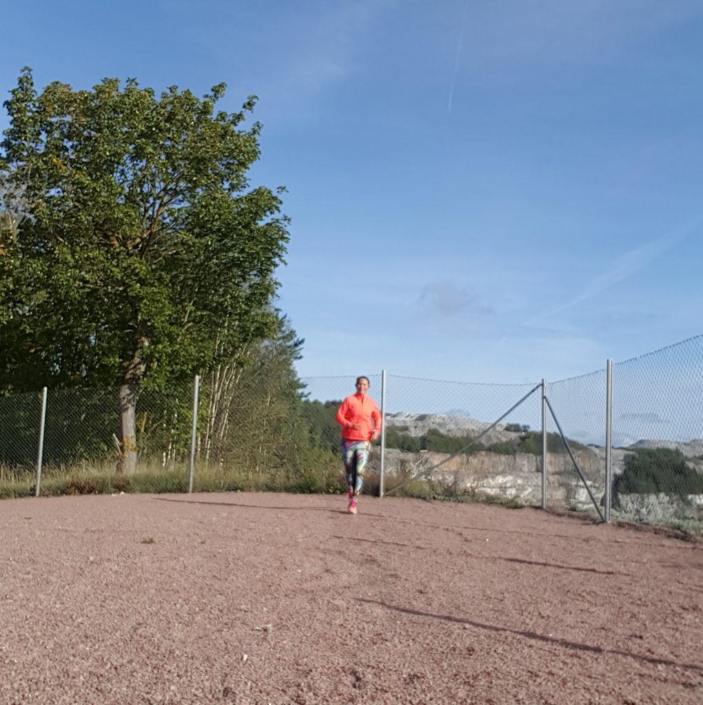 höstväder och löpning