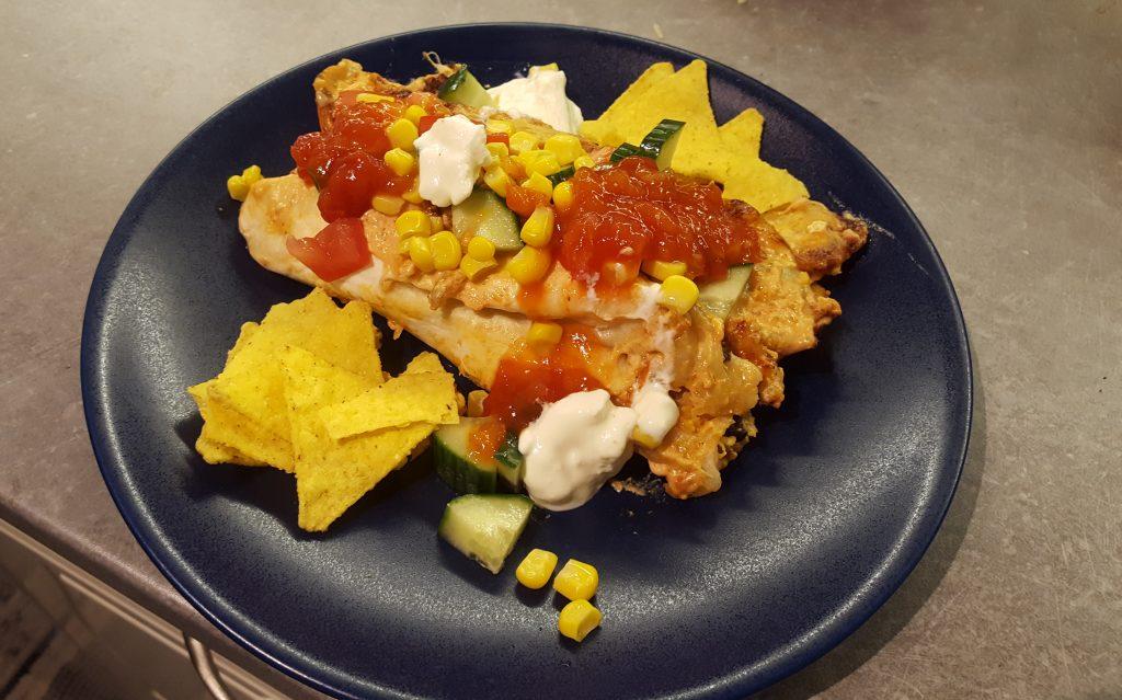 vegetariska enchiladas