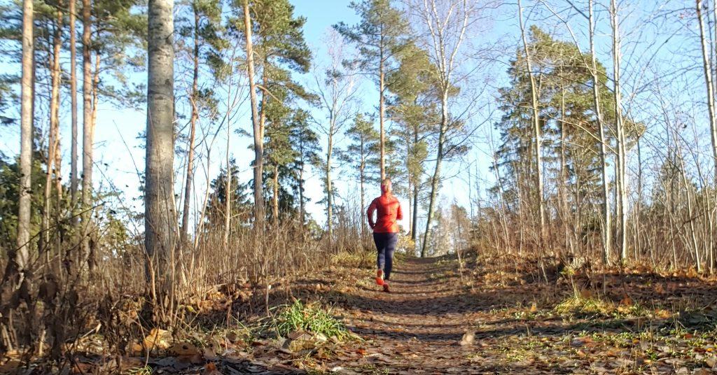 solsken och löpning