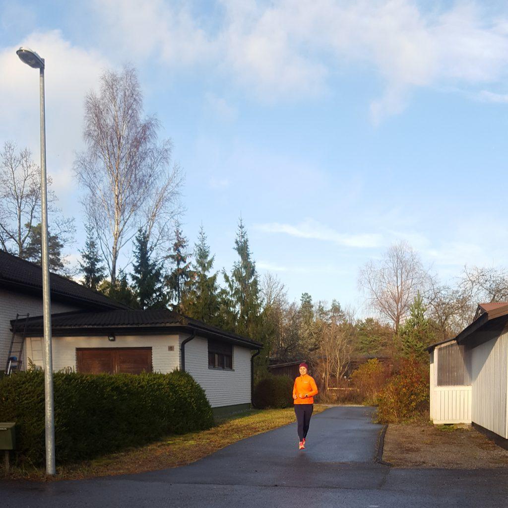ett extrapass löpning