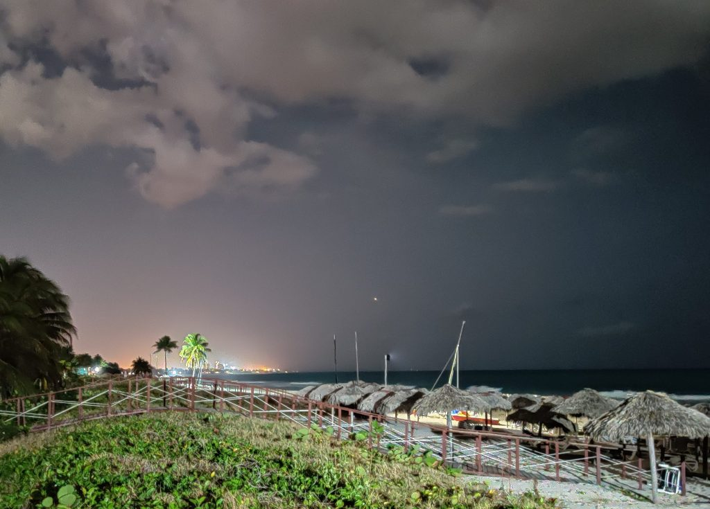 varadero beach by night