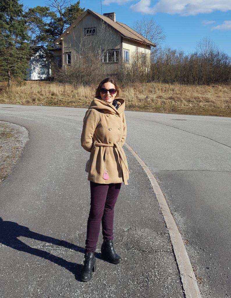 en promenad i solen