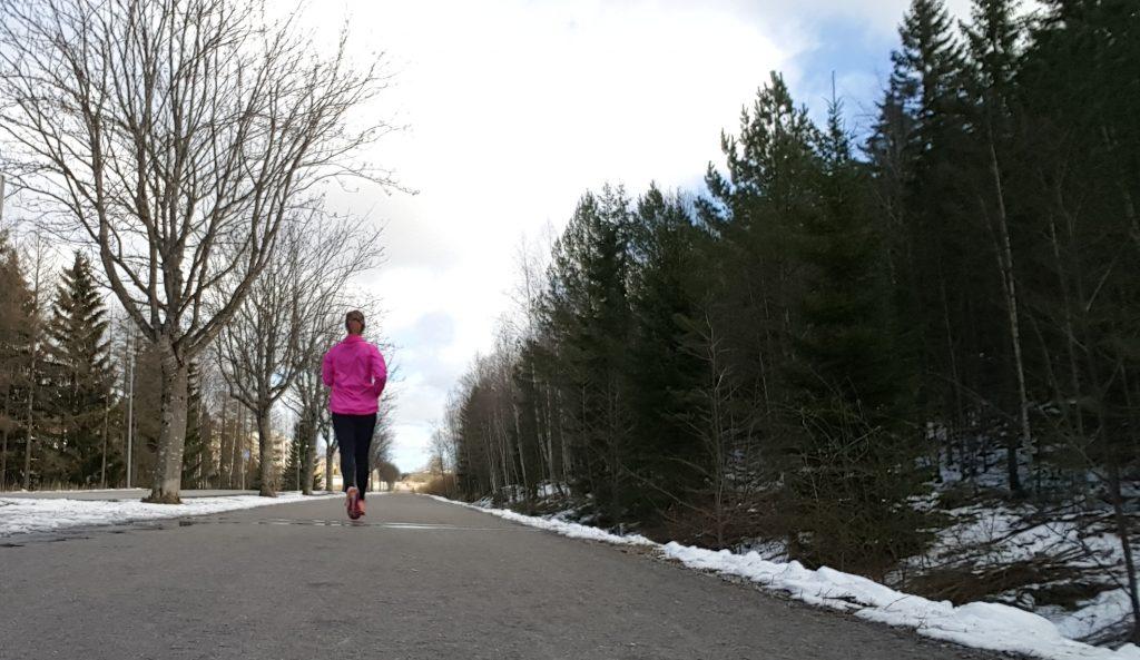 första dagen av maratonträning