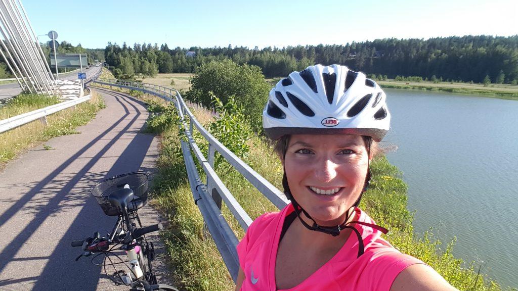 hälsa på cyklister