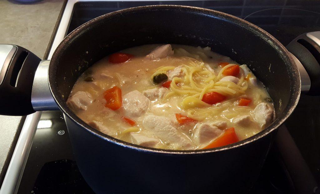 one-pot pasta med kyckling