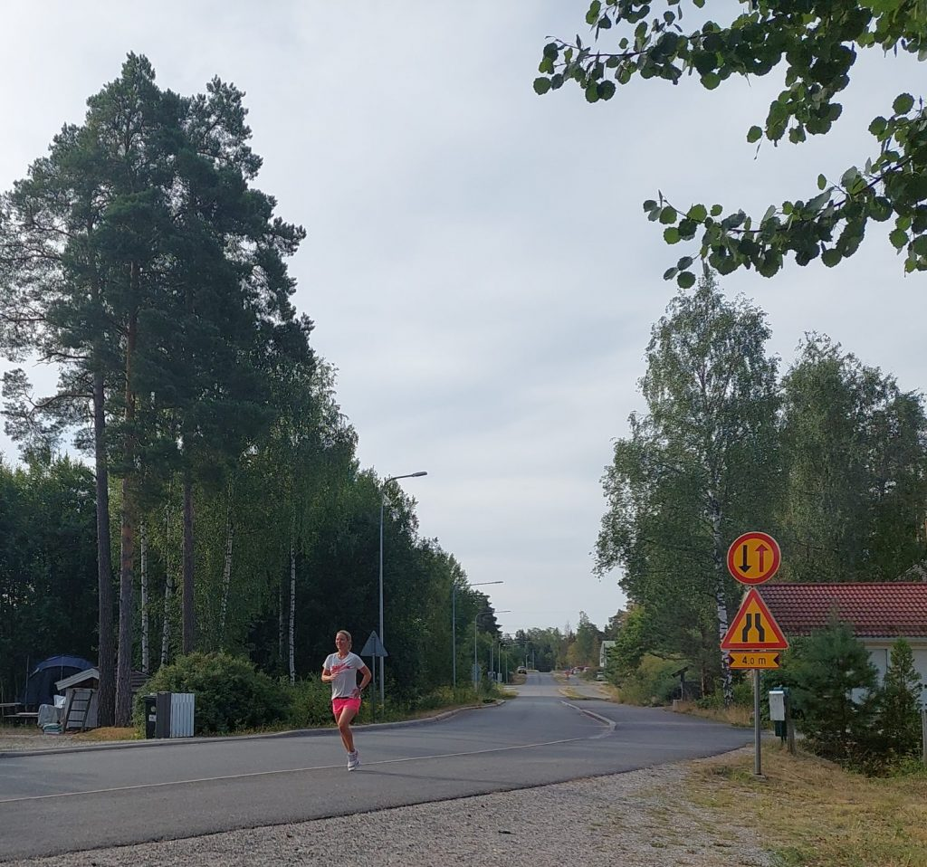 tre dagar med morgonlöpning